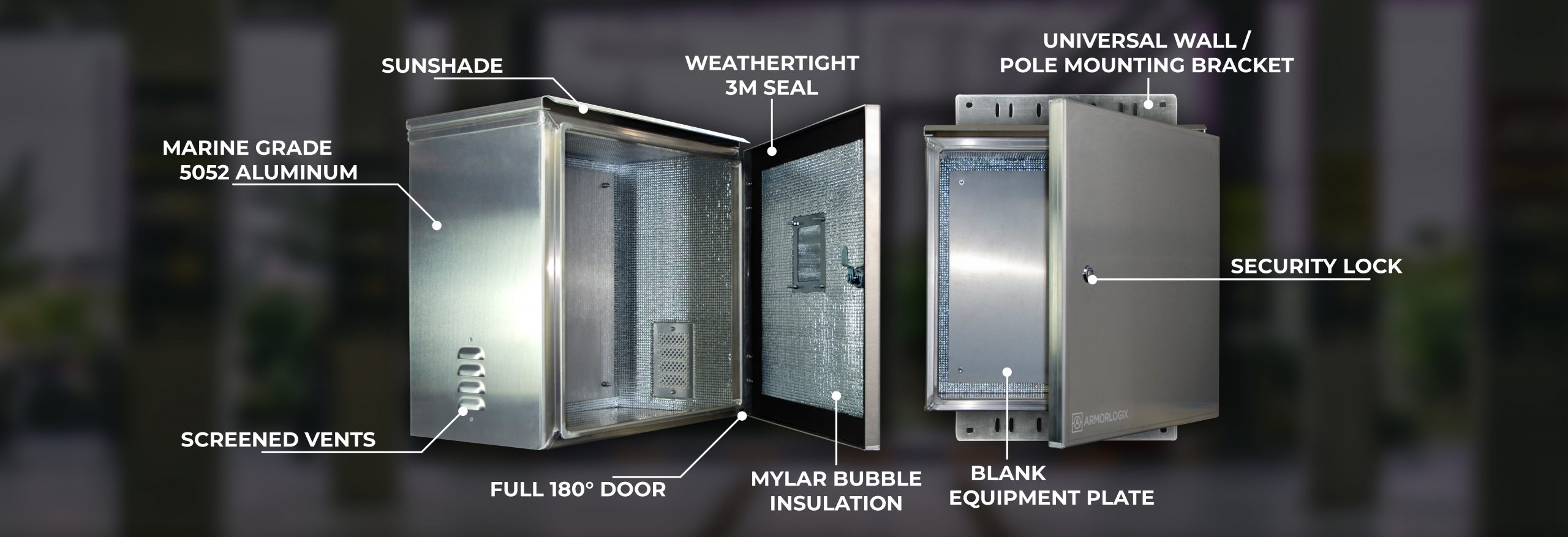 NEMA 3 and NEMA 4 weatheproof enclosures - Features