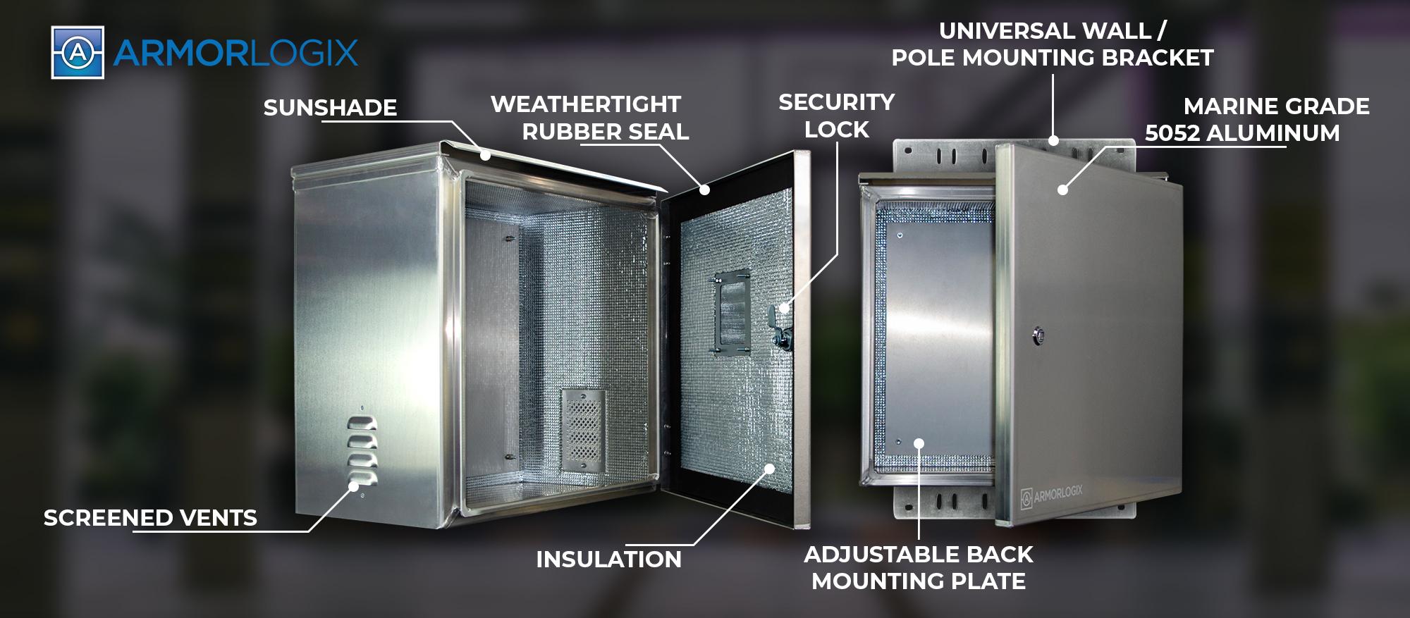 ArmorLogix Weatherproof Enclosure - Built in Features