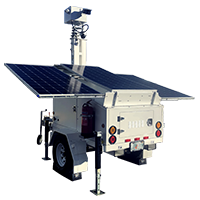 ArmorLogix solar surveillance trailer with cellular connectivity and gps