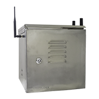Weatherproof enclosure with 4G and GPS connectivity