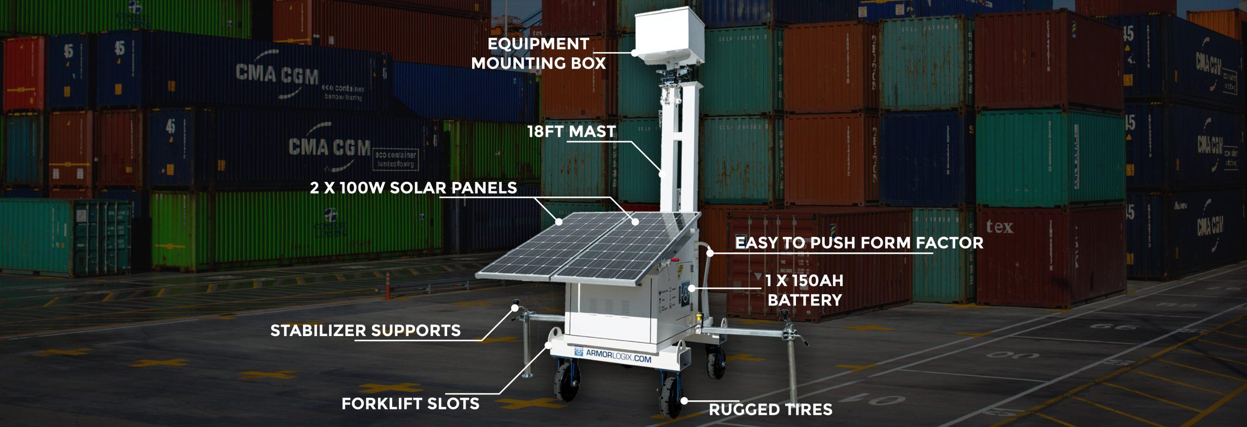 ArmorLogix Solar Cart Features