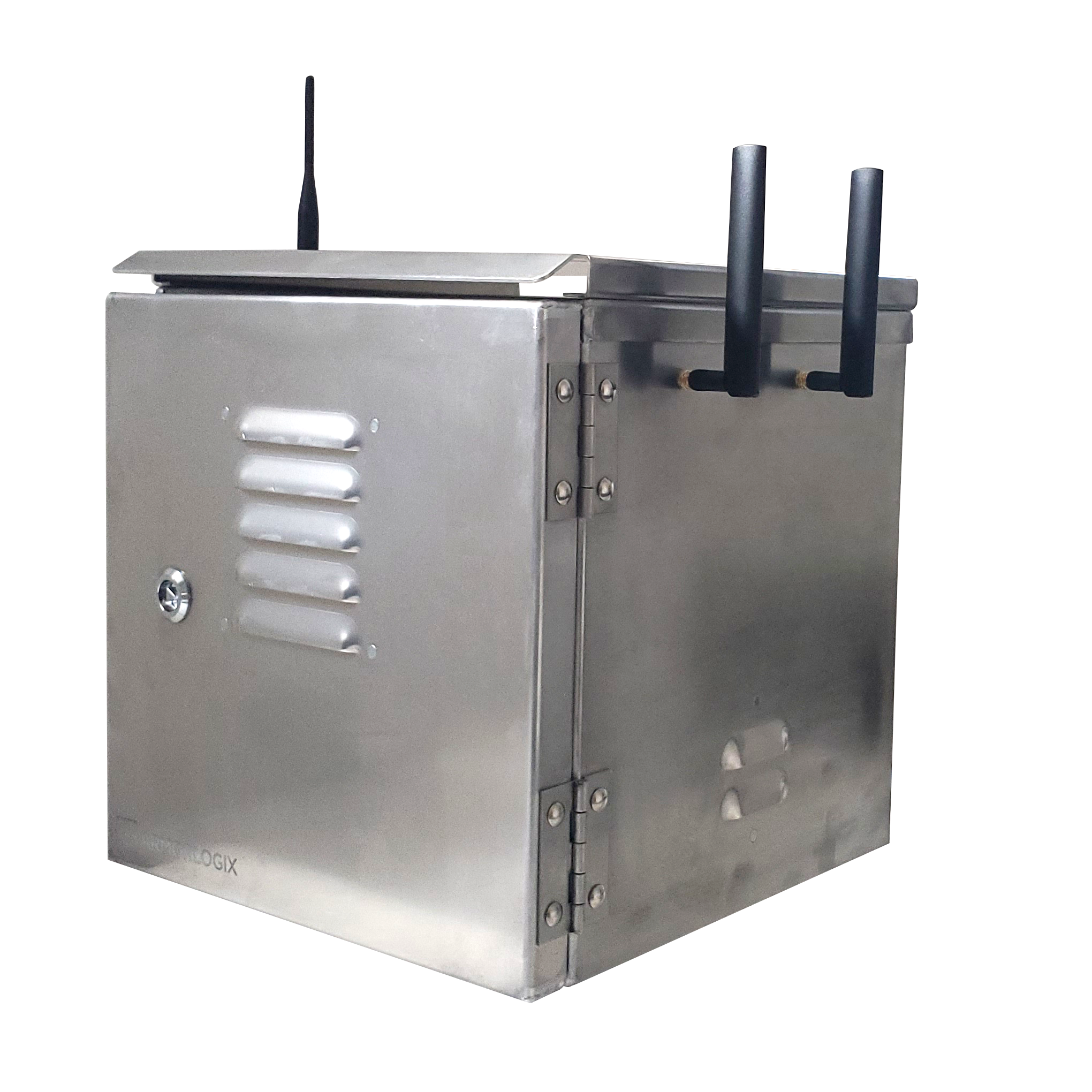 Weatherproof enclosure with 4G and GPS connectivity - 90°