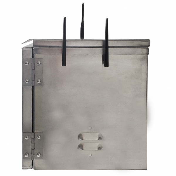 Weatherproof enclosure with 4G and GPS connectivity - Side