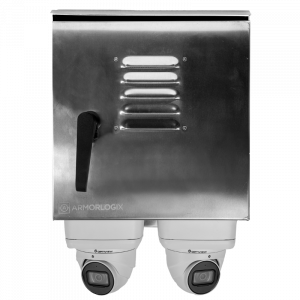 Weatherproof Surveillance System with 2 x IP Cameras and Edge Recording