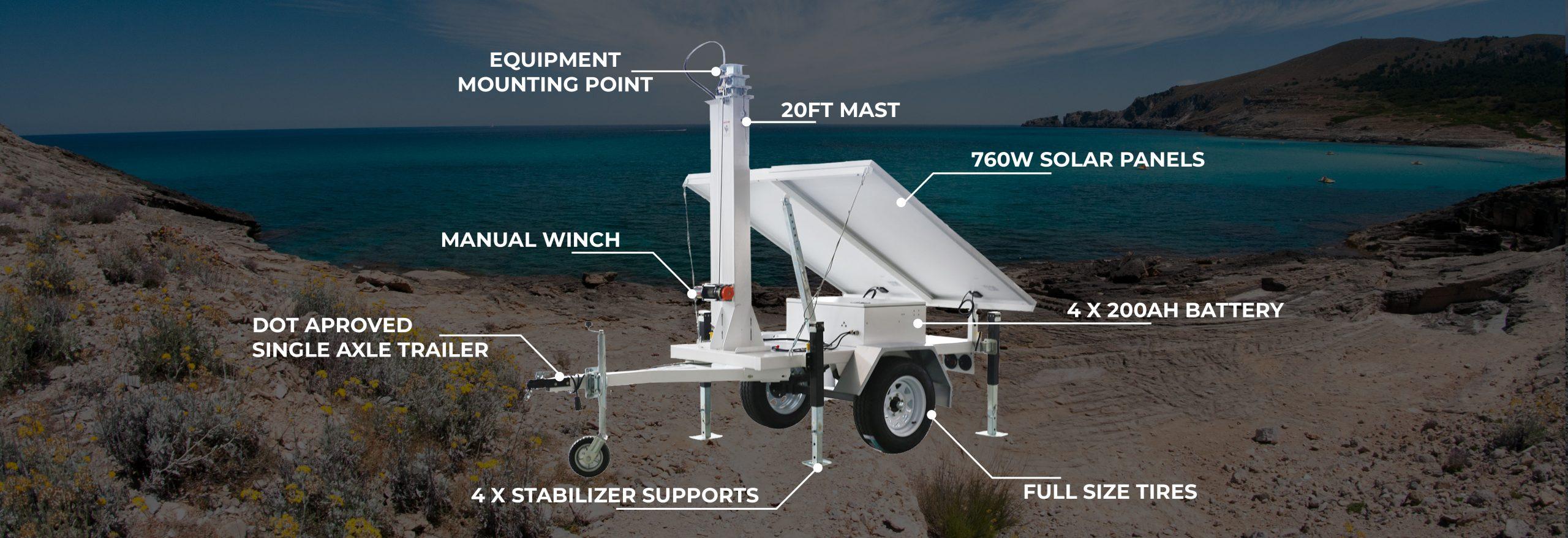 AL1400 - ArmorLogix Compact Solar Trailer