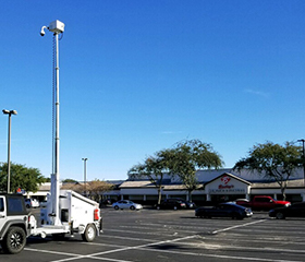 Parking Lot surveillance and lighting solutions
