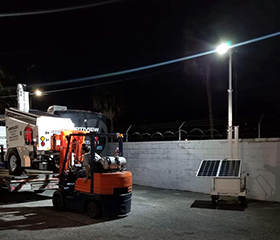 Solar Powered Lighting for Work Site Safety