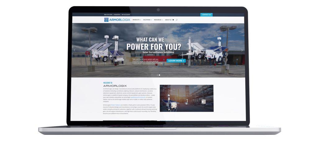 ArmorLogix New Website Laptop Mockup