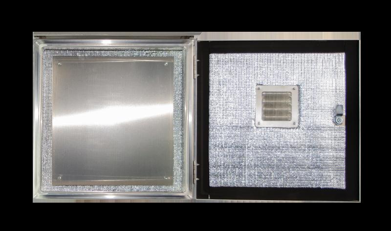 Blank aluminum backplates for NEMA enclosures